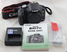 Free shipping! Shutter < 4K! Canon EOS Rebel T1i 15.1 MP 500D Digital SLR Camera