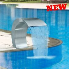 Waterfall Water Feature Swimming Pool Pond Fountain Garden Patio Decor Steel New