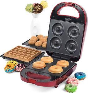 Giles & Posner EK2102SG 3 in 1 Treat Maker Doughnut Cake Pop & Waffle Maker