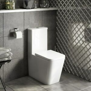 Close Coupled Toilet with Soft Close Seat - Evan