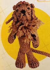 8� The Cowardly Lion Wizard Of Oz Crochet Doll Amigurumi Brand New Hand Made