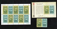 AUSTRALIAN COLONIAL HERITAGE STAMP SHEETLET, MINISHEET & PAIR - ALL MINT