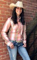 Wrangler Women's Vintage Multi Color Snap Up Western Shirt LW1868M MSRP = $59.95