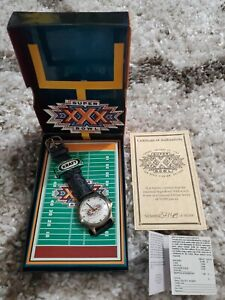 Kraft 1996 Super Bowl XXX Limited Edition Watch w/ Original Box & COA #37148 NEW