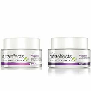 Avon Nutra Effects Ageless Day Cream + Night Cream (50 gm each) free shipping