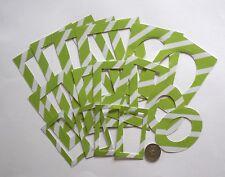 NO 396 SCRAPBOOKING - 16 DIE CUT HEAVY WEIGHT PAPER GREEN & WHITE PHOTO FRAMES