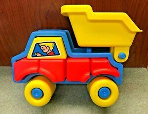 """Vintage Chunky 3-D Dump Truck 10"""" Puzzle"""