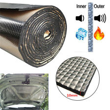 10mm Car Sound Deadener Heat Self-Adhesive foam rubber+ Aluminum sheet 1M*0.5m