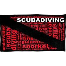 "Beach Towel - Dive Flag - Diver Text - Scuba Diving - 60"" x 30"" - GP3114"