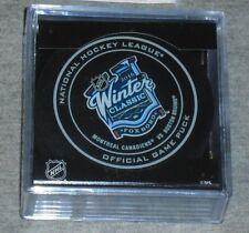 2016 Winter Classic Official Game Puck Foxboro Gillette Stadium Bruins Canadiens