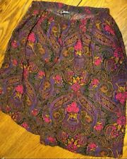 Alfred Dunner Shorts Womens Size 34/20 W Floral Paisley Boho Print Made In USA