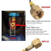 Sodastream Soda Maker Club Externer Schlauch Adapter für CGA320 W21.8 CO2