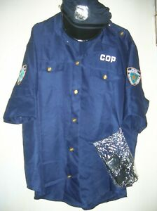 NEW Police Theater/Halloween Costume Shirt/TopTelephone Police Cap One sz Unisex