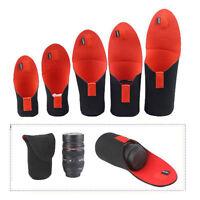 5pcs Neoprene Camera Lens Soft Protector Pouch Bag Case for Canon DSLR S-XXL New