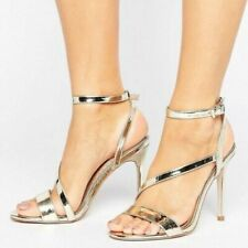 188f3dfbd299 BCBGeneration Diego Women s High Heels Sandals Strappy Silver Size US 8 M