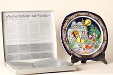 Rosenthal Canti di natale su porcellana Kling,Campanello '84 autografato (55257)