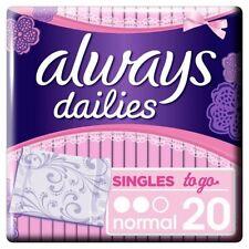 Always Dailies Fresh Scent Singles Normal 20pk panty liners x 3 Multi-Buy