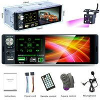 "Single 1DIN 4.1"" Car Stereo Radio Bluetooth FM MP5 Player USB Head Unit + Camera"