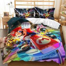 Game Super Mario Kart 3d Bedding Set Duvet Covers Cosplay Pillowcase Bedclothes