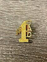 Vintage Gold Tone #1 Dad Lapel or Hat Pin with Back- Father Gift