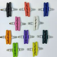 BRAKE BLOCKS *** Coloured BMX MTB ATB Mountain Bike Vbrake V-Brake Blocks Pads
