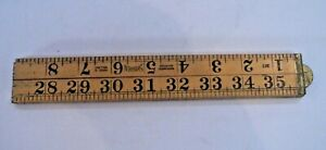 Vintage Sybren Warranted Boxwood 36'' folding ruler made Holland Sell 4 Charity