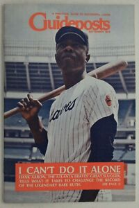 """Hank Aaron Braves HOF """"I Can't Do It Alone"""" story 1973 Guideposts Magazine"""