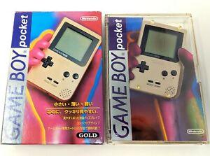 Nintendo Game Boy Pocket Gold Brand New Japanese New in Box