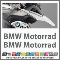 2x BMW Motorrad Grey R1200 R1150 F800 F650 F700 GS 99-17 PEGATINA AUTOCOLLANT