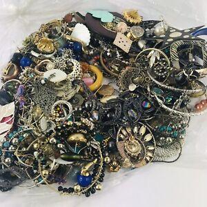 Huge Job Lot Odd Earrings 800g Costume Bundle Craft Broken Repair Harvest