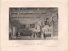 1850 PRINT - ALLOM - FRANCE- SALOON OF LOUIS XIII AT FONTAINBLEAU