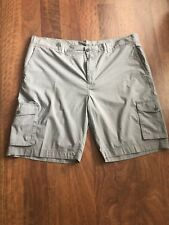 Joseph Abboud Mens Grey/check Color  Cargo Shorts Size 44 Flat front NWOT