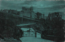 Moonlight Scene, The Castle From Connaught Park, DOVER, Kent
