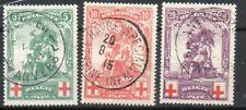 Année 1914 : 126-128 obli. - Croix Rouge