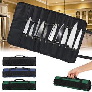 22 POCKET CHEF KNIFE ROLL HOLDER BAG KNIFE PORTABLE CASE STORAGE HANDLE BBQ