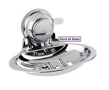 Naleon Soap Dish Super Suction Chrome Removable Bathroom Kitchen Laundry Caravan