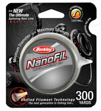 Berkley Nanofil Uni-filament Fishing Line 300YDS Clear Mist Choose Your Size!