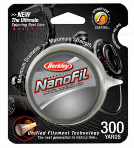 Berkley Nanofil Uni-filament Fishing Line 300YDS Clear Mist Choose Your Size!