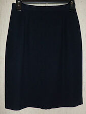 EXCELLENT WOMENS collectibles CASUAL CORNER DARK NAVY BLUE LINED SKIRT  SIZE 4