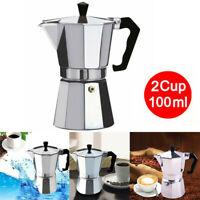 Aluminum Italian Moka Espresso Coffee Maker Percolator Stove Top Pot 2/6/9 Cups