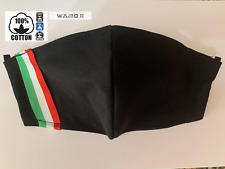Mascherina Mascherine Bandiera Italia 100% DOPPIO COTONE Lavab. Antibatt.