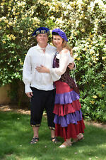 RENAISSANCE MEDIEVAL PIRATE WENCH SKIRT SZ M/L HALLOWEEN COSPLAY PURPLE