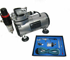 RDG AIRBRUSH COMPRESSOR KIT WITH 186K ART CRAFTS PAINT SPRAYING MODEL MAKING
