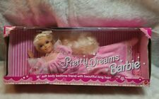 Pretty Dreams Barbie 18 Inch Soft Body Doll NRFB 13611 Bedtime Friend