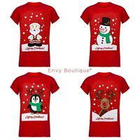 Mens Xmas T Shirt Christmas Womens Unisex Santa Reindeer Snowman Novelty Tee Top