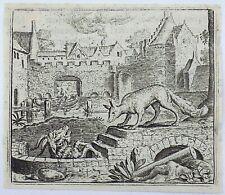 Marcus Gheeraerts I (1521–1636); Master Engraving - The Ram & the Fox - Aesop