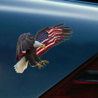 Bald Eagle USA American Flag Sticker Cool Car Laptop Window Decal Bumper Cooler
