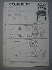 Philips FD574A FD575A Merkur Tisch Service Manual Ausgabe 11/57