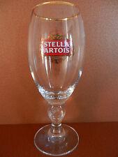 Single Gold Rim Stella Artois Stemmed Belgian Ale Beer Glass 0.4L 13.5 oz.