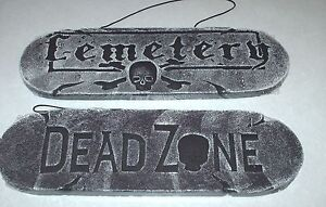New Cemetery or DEAD ZONE Halloween Sign decor party graveyard